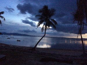 later that evening as the sun set over Koh Pha-Ngan...